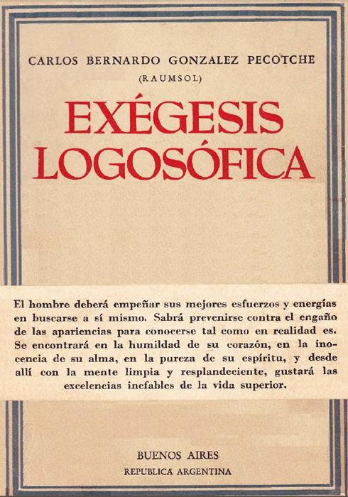 Exégesis logosófica – 1956