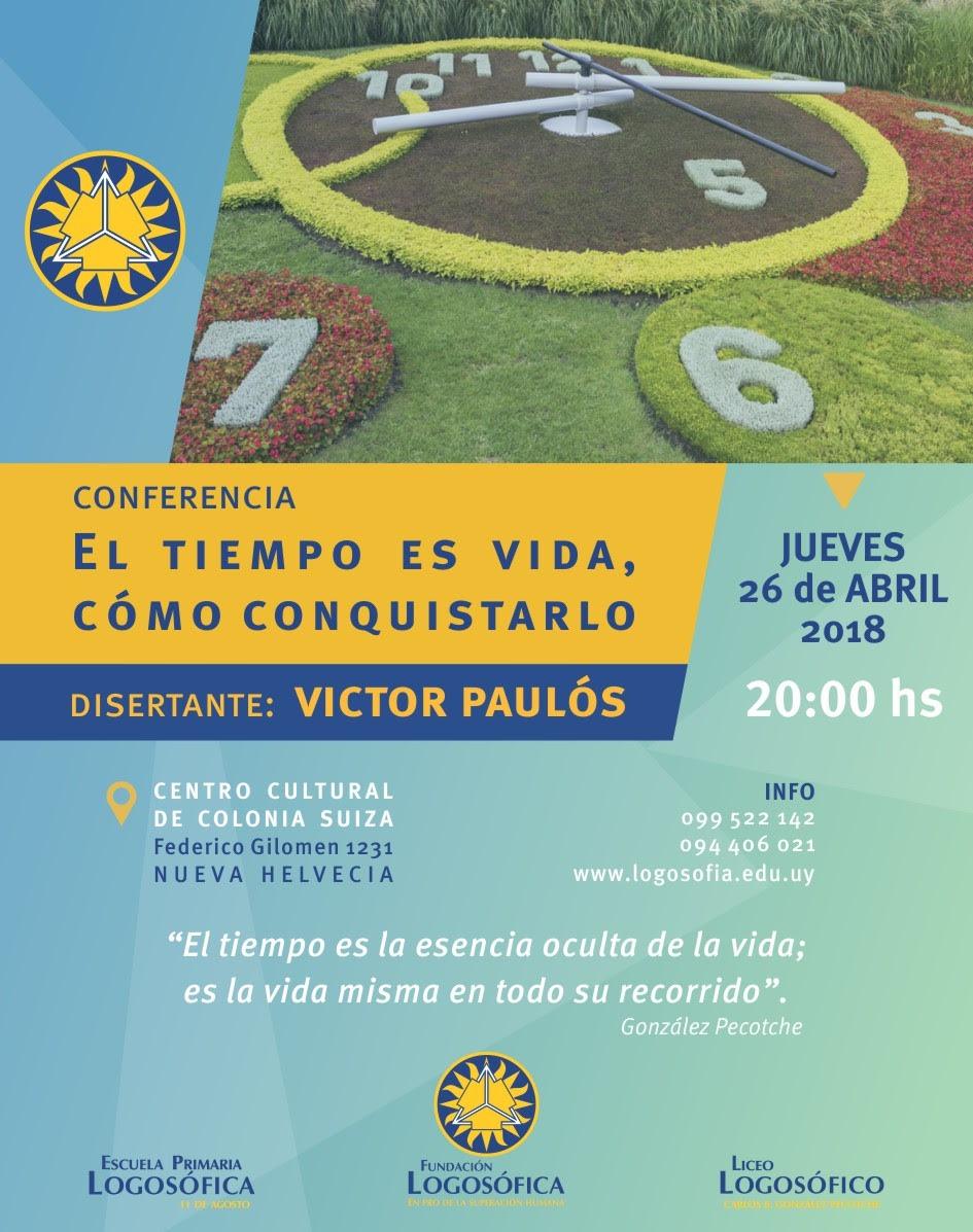 Conferencia de Logosofía Nueva Helvecia Víctor Paulós