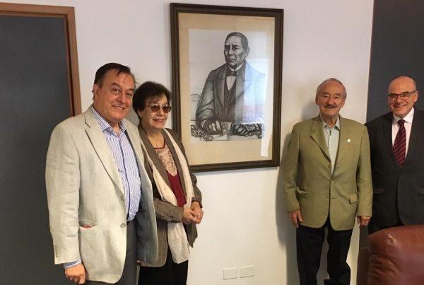 Embajador Víctor Manuel Barceló recibe al logósofo Dr. Luis Raúl Rossi