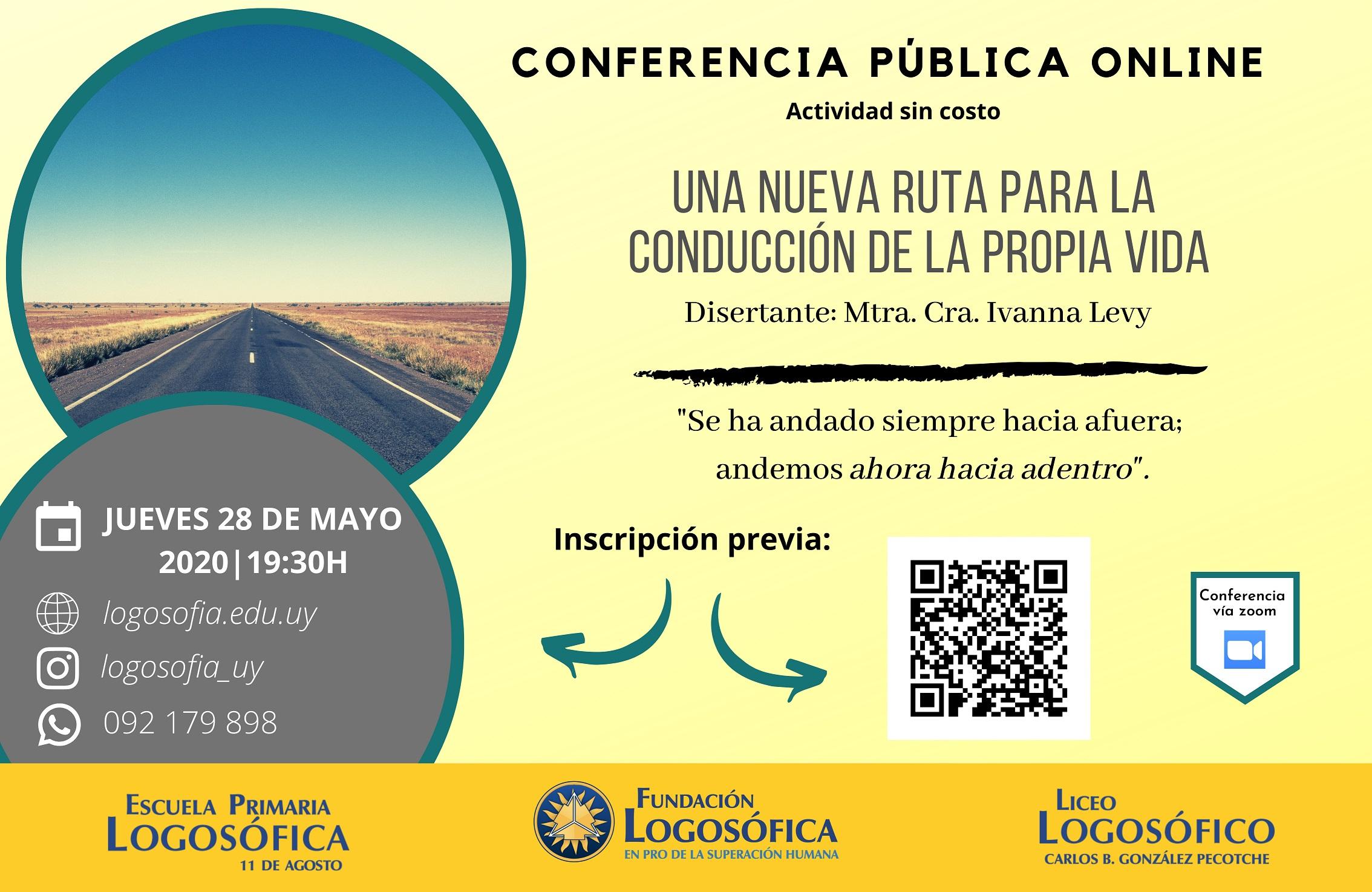 invitación a conferencia logosofia zoom